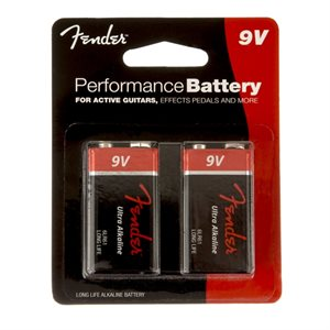 FENDER - PERFORMANCE 9V BATTERIES - TWO-PACK