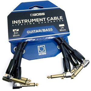 BOSS - BIC-PC-3 - INSTRUMENT CABLE - 6' INCHES - PACK