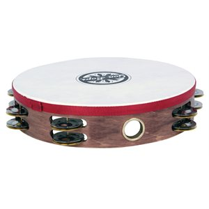 GON BOPS - WOOD TAMBOURINES - HEADED - DOUBLE ROW - 10''