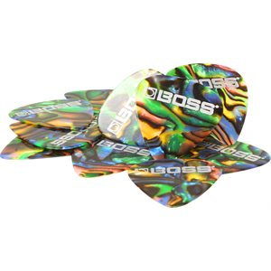 BOSS - PICK MEDIUM - 12X - ABALONE