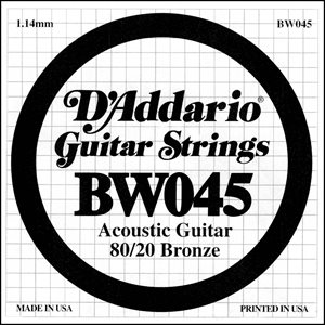 D'ADDARIO - BW045 - acoustic guitar string .45