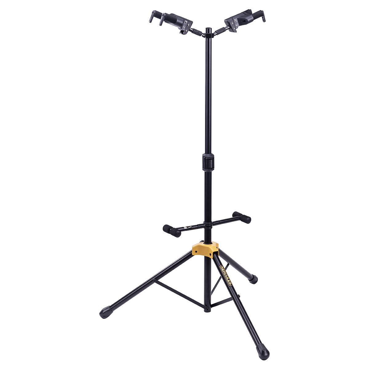 HERCULES - AUTO GRIP DOUBLE GUITAR STAND - FOLDABLE BACKREST
