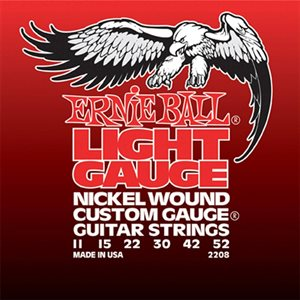 ERNIE BALL - NICKEL ELECTRIC STRINGS - WOUND G - 11-52