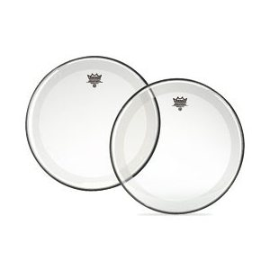 REMO - 22'' POWERSTROKE 4 (CLEAR, WHITE FALAM PATCH)