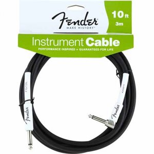 FENDER - 10' Performance Series Instrument Cables (Straight-Right Angle)