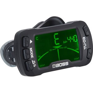 BOSS - TU-03 - Clip-On Tuner & Metronome